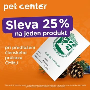 Akce Pet Center: Sleva 25 %